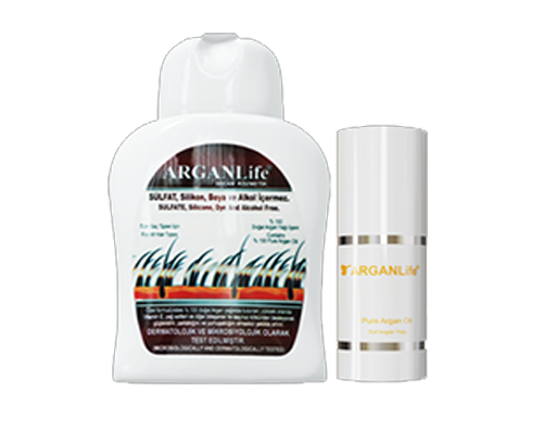1 BOTTLE OF 250ML ARGANLife HAIR SHAMPOO AND 50ML ULTRA NOURISHING OIL TREATMENT